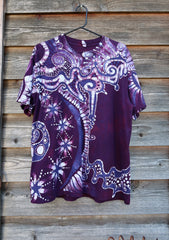 Daydream at Main Stage 90's Throwback Cotton Batik T-shirt - Size Large Tshirts batikwalla