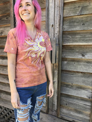 Sunshine Day At The Beach Vneck Tee Batikwalla by Victoria