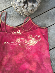 Red Roots Tree of Life Stretchy Batik Camisole - Batikwalla   - 2