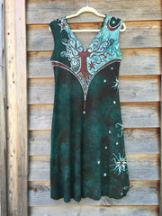 Usnea in the Oak Tree Organic Cotton Batik Dress - Batikwalla   - 7
