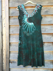 Usnea in the Oak Tree Organic Cotton Batik Dress - Batikwalla   - 8
