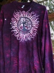 Mulberry Tree of Life Long Sleeve Batik Tshirt
