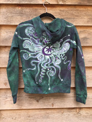 Teal and Purple Batik Star Hoodie - Batikwalla   - 2