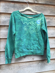 Teal Moon Long Sleeve Batik Cozy Shirt - Batikwalla   - 3