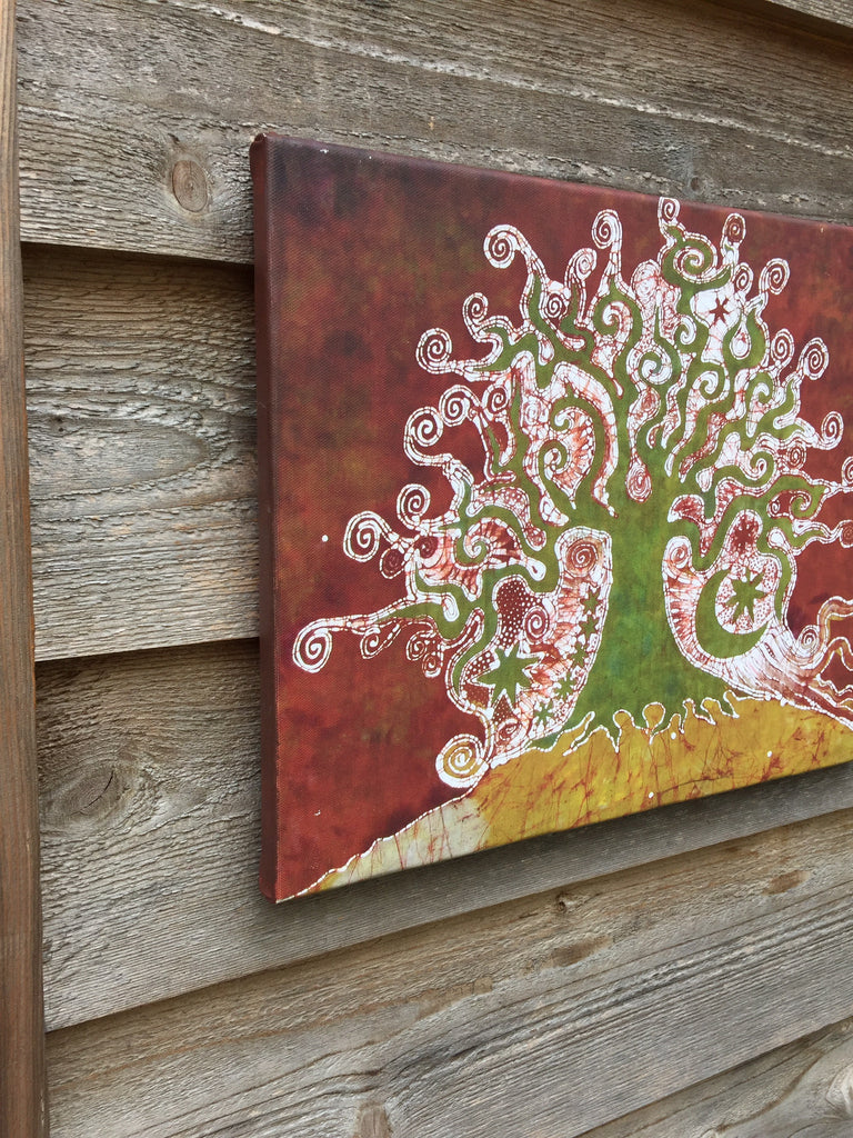 Tree On A Hill Canvas Giclée Print - Batikwalla   - 1