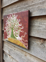 Tree On A Hill Canvas Giclée Print - Batikwalla   - 5