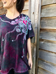 Tourmaline Moonbeams Handmade Batik Tee - Plus Size - 5X