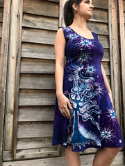 Purple Moondance Organic Cotton Batik Dress