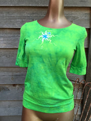 Naughty Lime Batik Top - Batikwalla   - 1