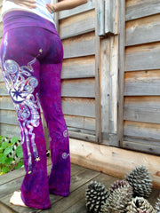 Berry Contrary Batik Yoga Pants - Batikwalla   - 5