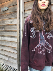 Rooted In Love Organic Cotton Batikwalla Hoodie - Unisex Size Large