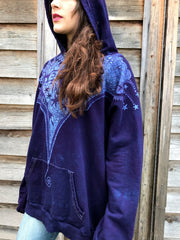 Talk'n About The Midnight Rambler Organic Cotton Batikwalla Hoodie - Unisex Size 2X