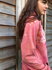 A Day At The Beach - Organic Cotton Batikwalla Hoodie