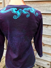 Ordained Goddess Batik Necklace Tee - 3/4 Sleeve Sleeve - Size Medium