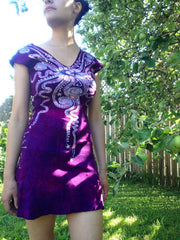 Moon Berry Organic Cotton Batik Dress - Batikwalla   - 1