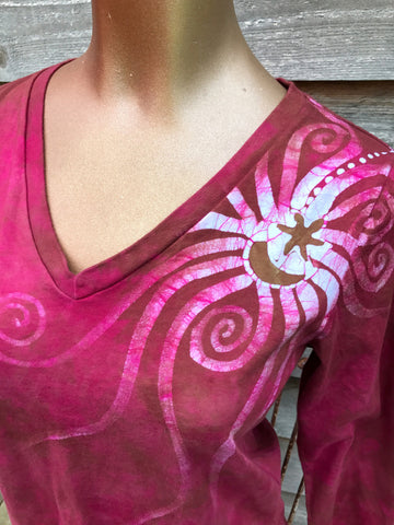 Wild Rose Handmade Batik - 3/4 Sleeve Top