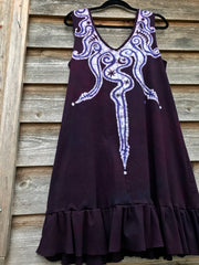 Lava Rock Batikwalla Dress in Organic Cotton - Size Large