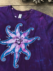 Starfish Knows How To Ice Skate - Batikwalla Tshirt - Size XL