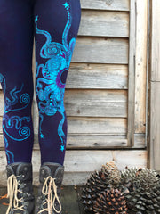 Festival by Moonlight Deep Purple Batik Leggings - Batikwalla   - 1