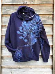 Sees The Forest For The Magnificent Trees Cotton Batik Hoodie - Unisex Size XL