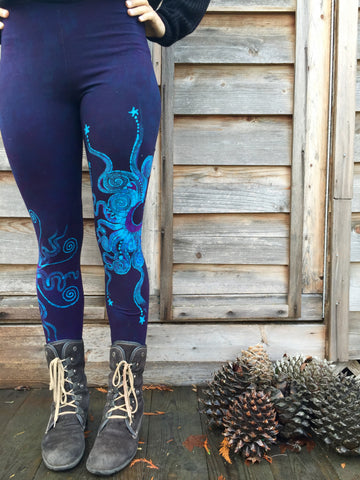 Festival by Moonlight Deep Purple Batik Leggings - Size Medium & XS ONLY