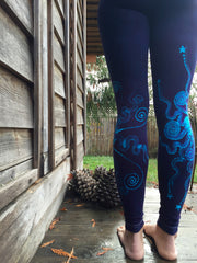 Festival by Moonlight Deep Purple Batik Leggings - Batikwalla   - 5