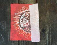 Red Tree of Life Batik Print Patch - Batikwalla   - 4