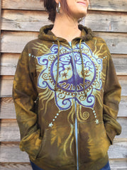 The Tree of Life Handmade Batik Hoodie - Batikwalla   - 1