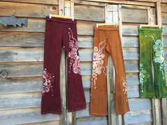 Red Batik Yoga Pants - Batikwalla   - 1
