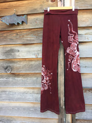 Red Batik Yoga Pants - Batikwalla   - 2