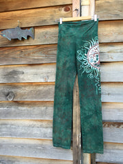 Sage Tree of Life Batik Yoga Pants - Batikwalla   - 2