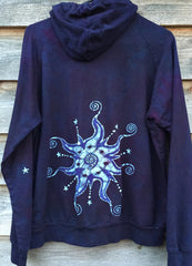 Very Formal Swirly Stars Handmade Batik Hoodie - Batikwalla   - 5