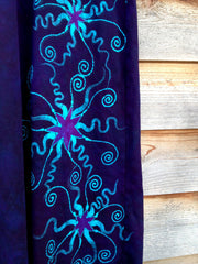 Deep Blue and Purple Organic Cotton Batik Dress - Batikwalla   - 7