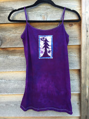 Purple Forest - Stretchy Yoga Batik Tanktop - Batikwalla   - 2