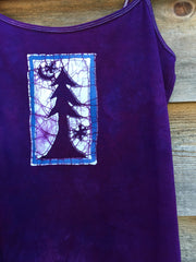 Purple Forest - Stretchy Yoga Batik Tanktop - Batikwalla   - 1