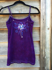 Purple Forest - Stretchy Yoga Batik Tanktop - Batikwalla   - 4