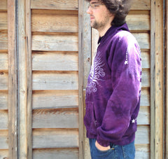 Purple Tree of Life Organic Cotton Batik Hoodie - Batikwalla   - 3