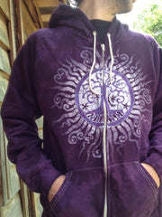 Purple Tree of Life Organic Cotton Batik Hoodie - Batikwalla   - 2