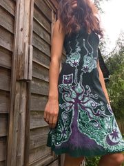 Owls In The Usnea Tree Batikwalla Dress in Organic Cotton - Size Small