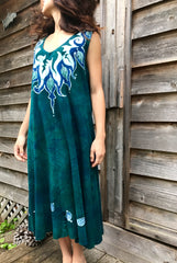 Wreath Of A Goddess Batikwalla Dress in Organic Cotton - Size Large