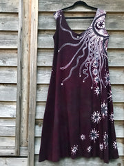 Tell The Stars How Much I Love Them - Batikwalla Dress in Organic Cotton - Size XL