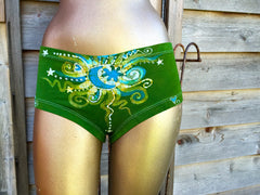 Batik Boyshort Undies - Naughty Lime - size XL - Batikwalla   - 1