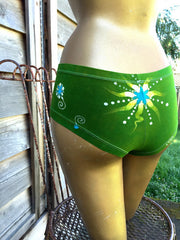 Batik Boyshort Undies - Naughty Lime - size XL - Batikwalla   - 3