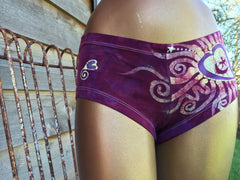 Pomegranate Crush Batik Booty Shorts - Batikwalla   - 2