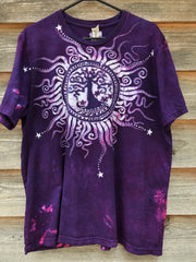 Tree of Life in The Brightest Magenta - Handmade Batik Tshirt