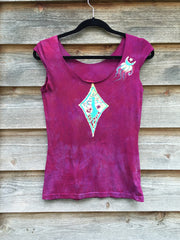 Heart Chakra Diamond Tree Batik Summer Top - Small - Batikwalla   - 3