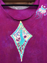 Heart Chakra Diamond Tree Batik Summer Top - Small - Batikwalla   - 4