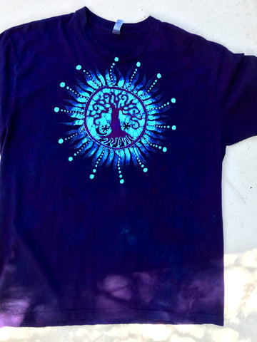 Midnight Purple Tree Handmade Batikwalla Tshirt - Size 2X