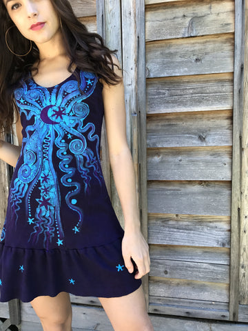 Glowing In The Moonlight Batikwalla Dancing Dress in Organic Cotton - Size Small