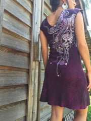 Marooned in Moonlight Organic Cotton Batik Dress - Batikwalla   - 2
